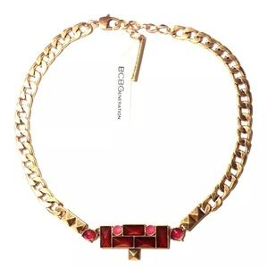 BCBGeneration NECKLACE FAUX ANTIQUE GOLD GEM